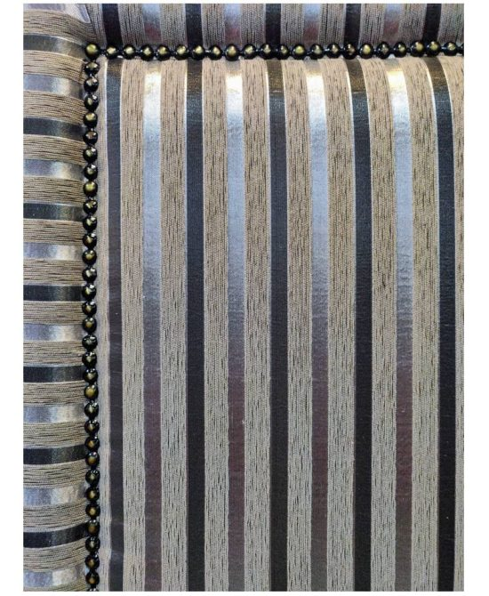 Lancaster Upholstered Full Depth Headboard Queen w/copper nail-head trim