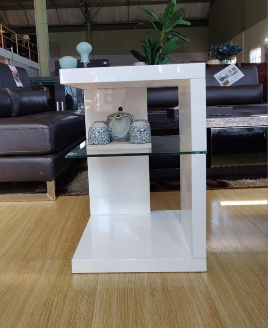 Milan Side Square Table, White