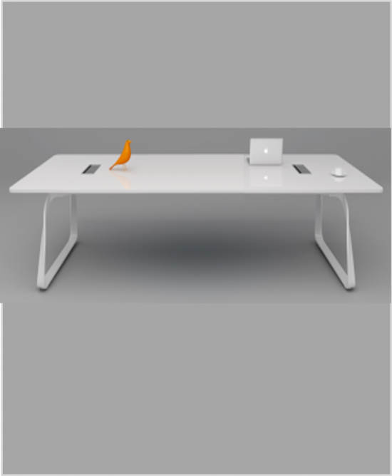 Moritz white 10-12 seats boardroom table conference table steel leg