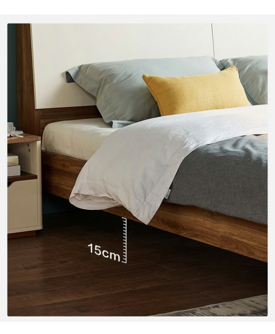 Lotus Bed Stead with USB port, extra queen size