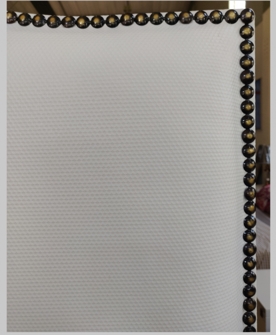 Eleanor Nova Headboard Tufted Queen w/copper nail-head trim152Lx170cmH