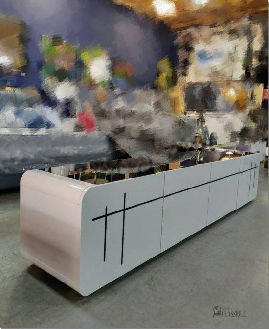 Isabella Plasma TV Stand white gloss 200Lx40Dx42Hcm
